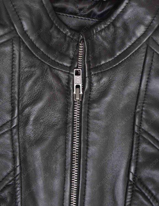 new zealand women's black leather jacket