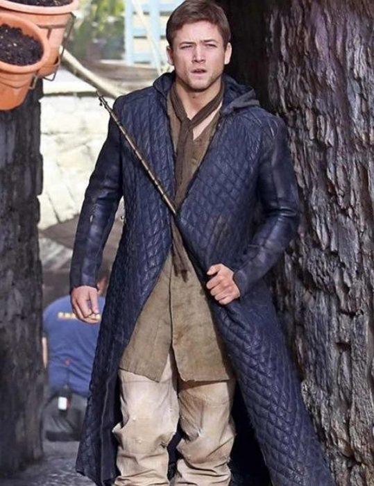 robin hood leather coat
