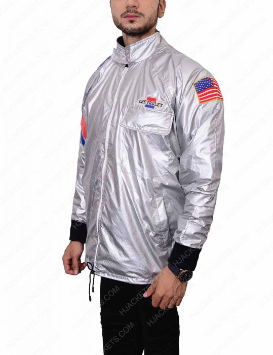 the warriors silver satin jacket