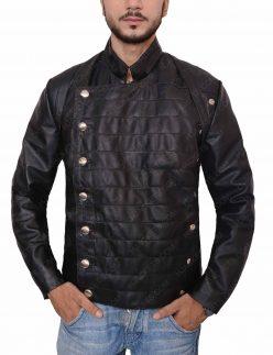 westworld military leather jacket
