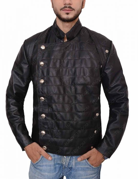 westworld military leather jacket