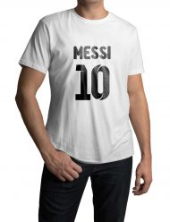 lionel messi white t-shirt