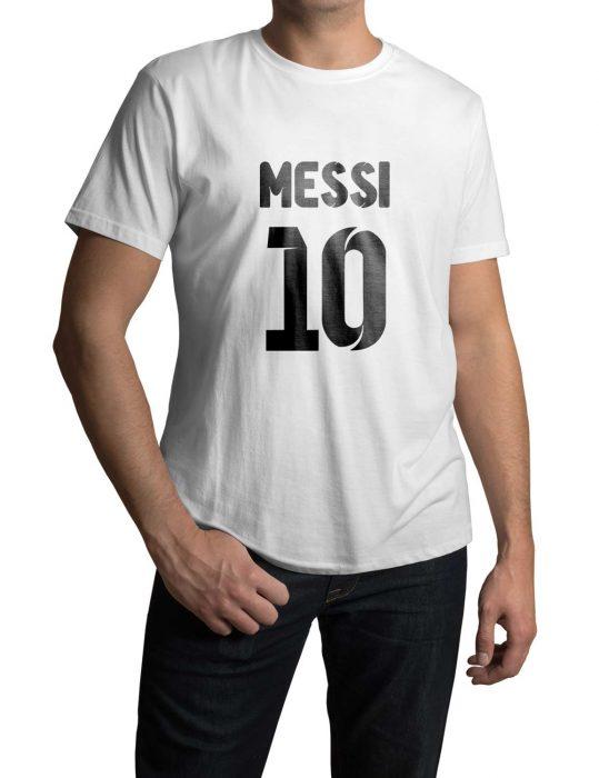 lionel messi white t-shirt