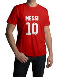 lionel messi red t-shirt