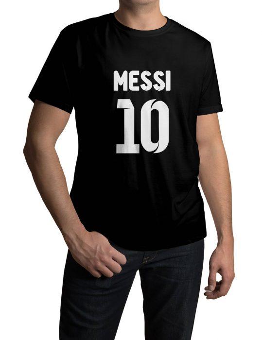 lionel messi black t-shirt