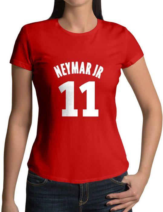 neymar red shirt