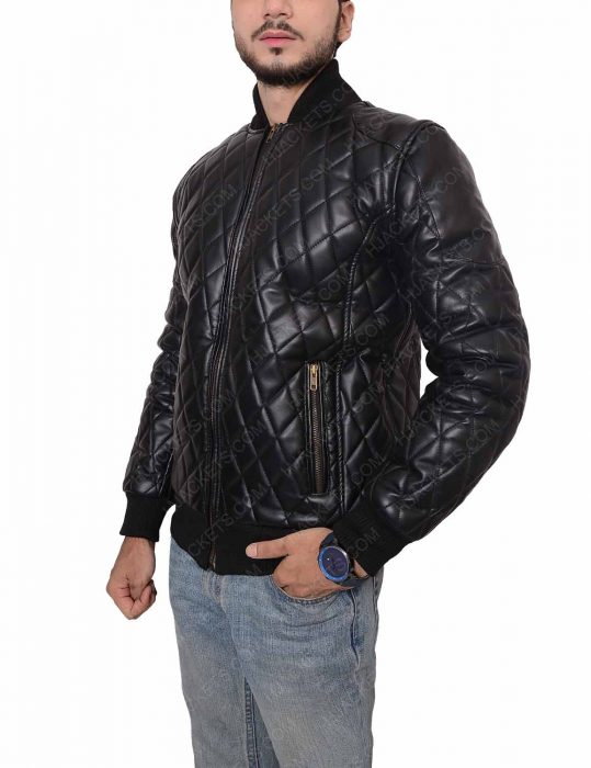 men's slim fit quilted jacket