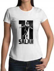 mohamed salah 11 white womens shirt