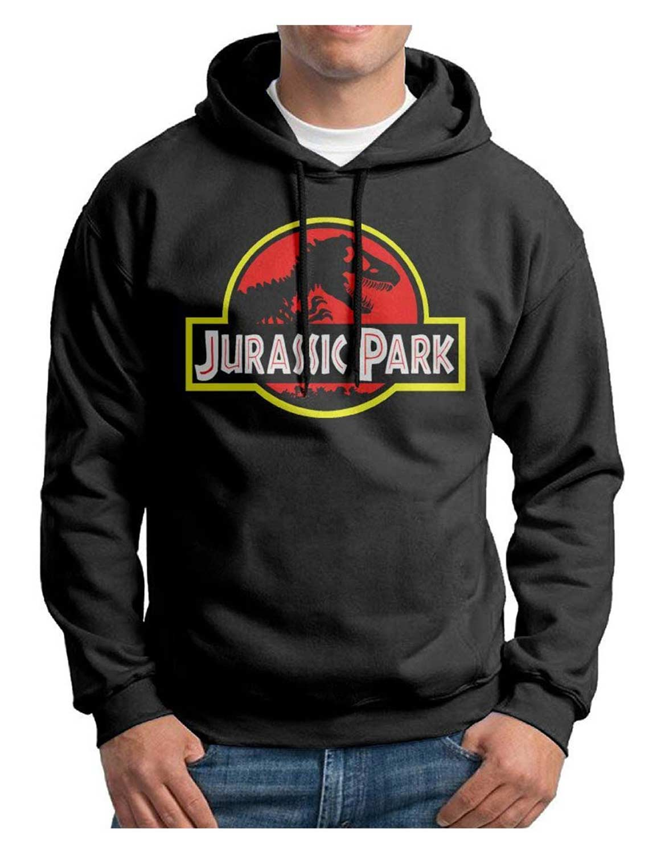 b63c1d76b751 Jurassic Park Black Cotton Hoodie Sweatshirt on Hjackets