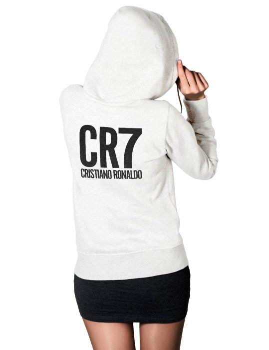 cristiano ronaldo white hoodie