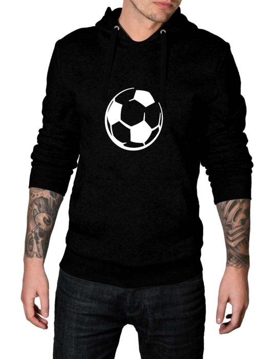 Football Logo Black Pullover Hoodie