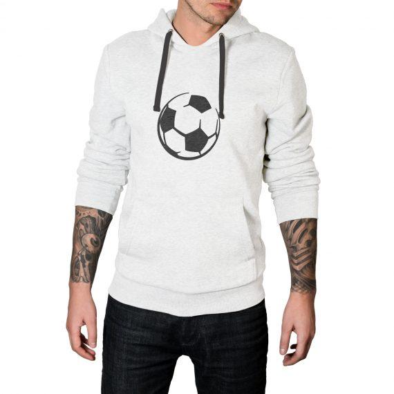 Football Logo white Hoodie