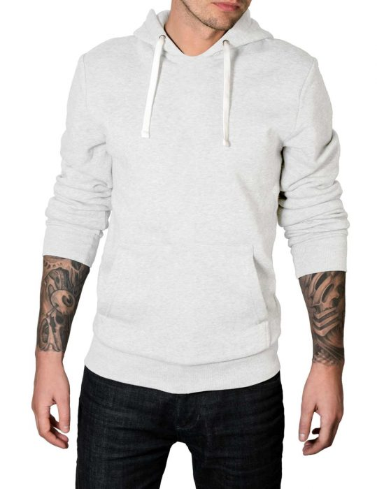 white pullover cotton hoodie