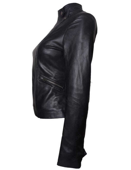 game night annie rachel mcadams leather jacket