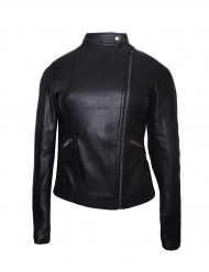 game night rachel mcadams biker jacket