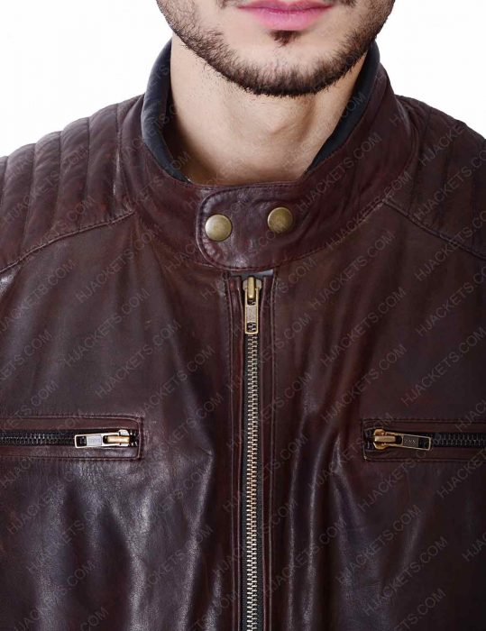 joe rocket 92 brown leather biker jacket