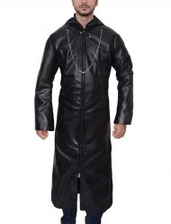 kingdom hearts organization xiii leather trench coat
