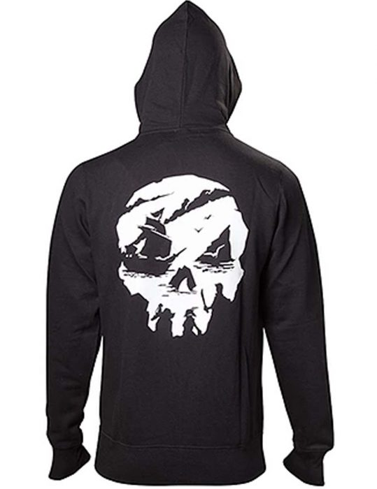 mens sea of thieves skull hoodie
