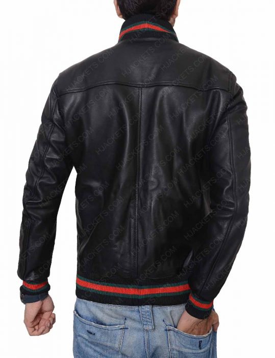 not afraid eminem black leather jacket