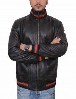 recovery not afraid eminem black leather jacket