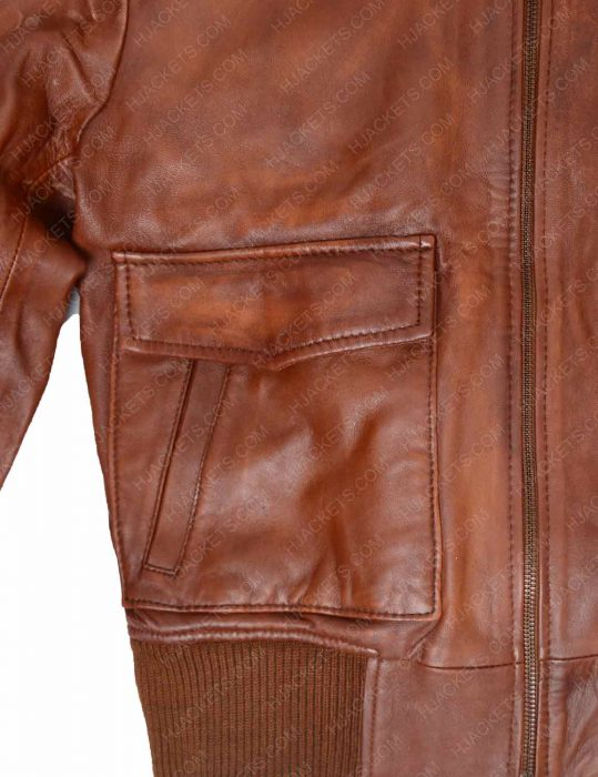 revolution brown leather jacket