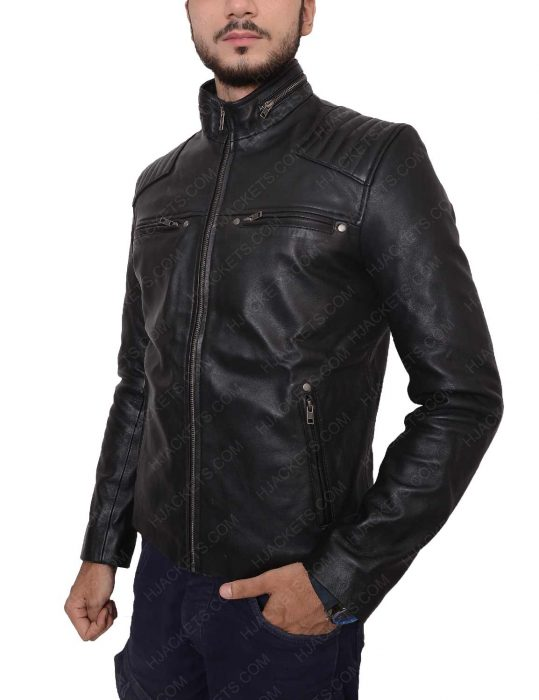 riverdale chuck clayton black leather jacket