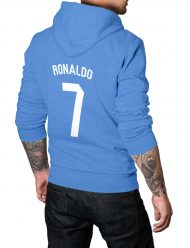 cristiano ronaldo 7 blue hoodie