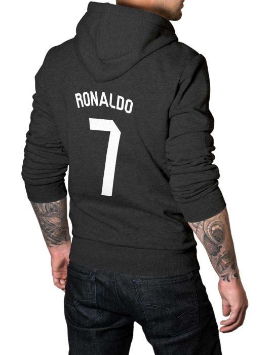 cristiano ronaldo 7 grey hoodie