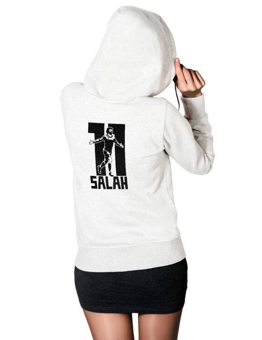 mohamed salah logo white hoodie