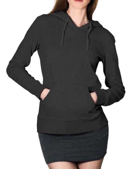 womens grey pullover hoodie