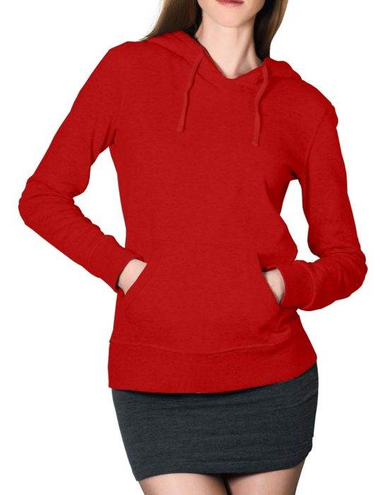 womens red pullover hoodie