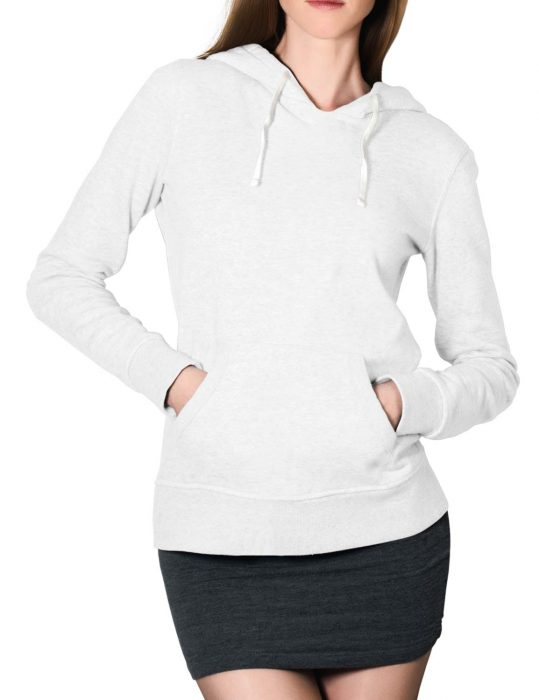 womens white pullover hoodie