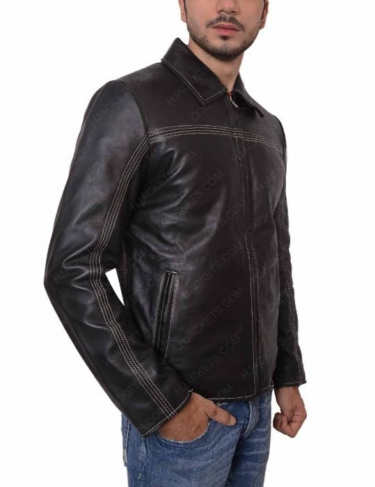 xxxx layer cake leather jacket