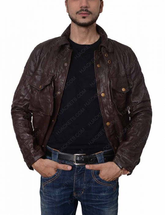william levy biker leather jacket