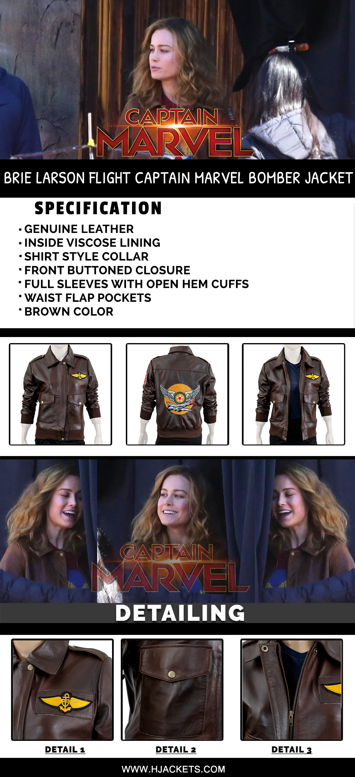 captain marvel bomber jacket infographic