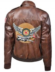 Captain Marvel Brie Larson Air Force Brown Leather Bomber Jacket