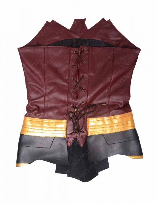 wonder woman leather corset
