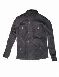Slim Fit Grey Cotton Jacket