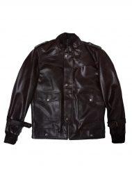 cafe racer black bomber jacket
