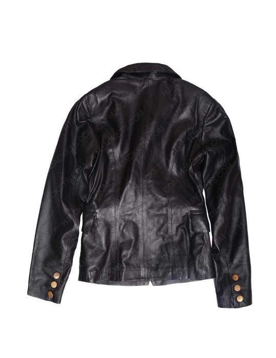 black biker womens jacket