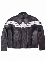 winter sale black leather jacket