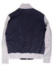 blue and white jacket
