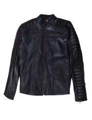 cafe racer slim fit leather jacket
