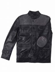slim fit black biker jacket