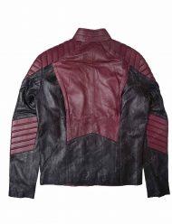mens maroon leather jacket