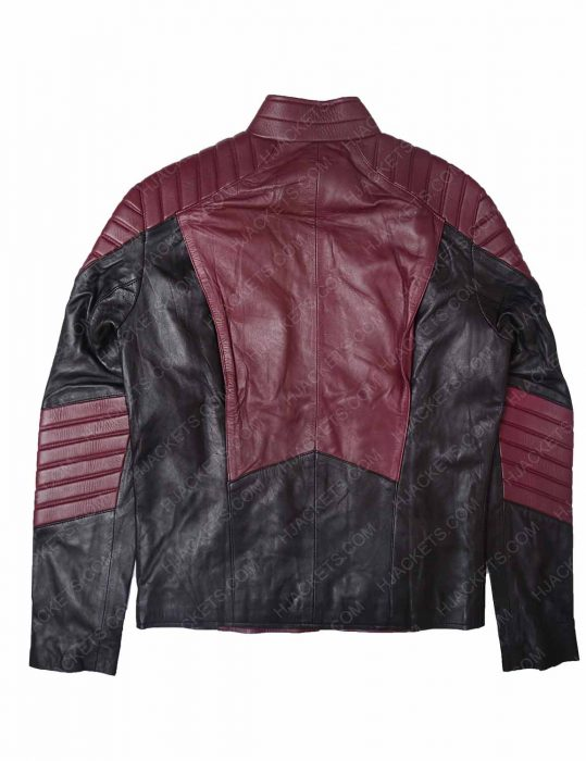 mens maroon leather jacket