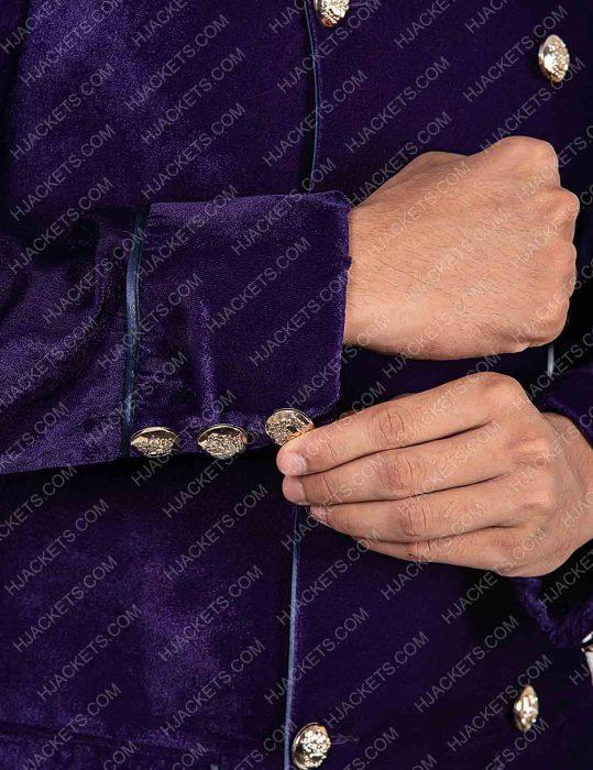 Into The Badlands Gaius Chau Purple Trench Coat