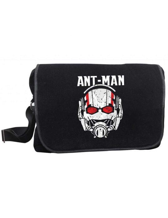 ant man helmet logo messenger bag