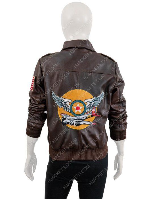 brie larson bomber jacket