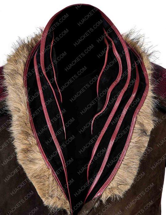 daniel wu sunny trench leather coat